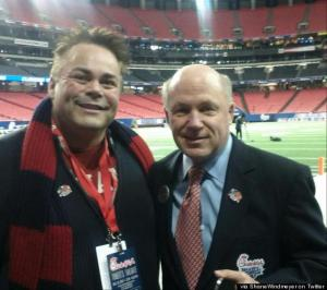 Shane Windmeyer tweeted this photo from the Chick-fil-a Bowl on New Years Day.