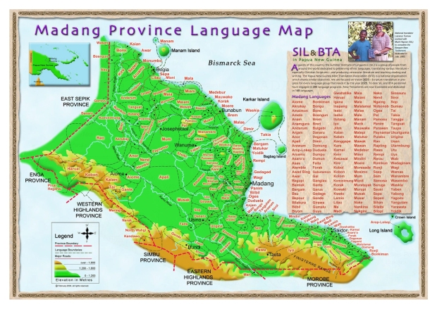 If you look at a map of PNG, the Madang Province is along the north coast. Can you find the donut-shaped island named Long Island? That's where I'm going.