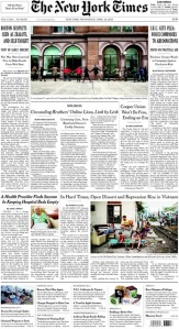 NYTimes front page scan