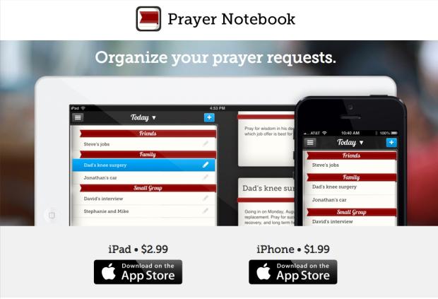 Prayer Notebook app
