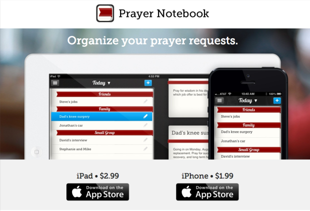 Prayer Notebook app