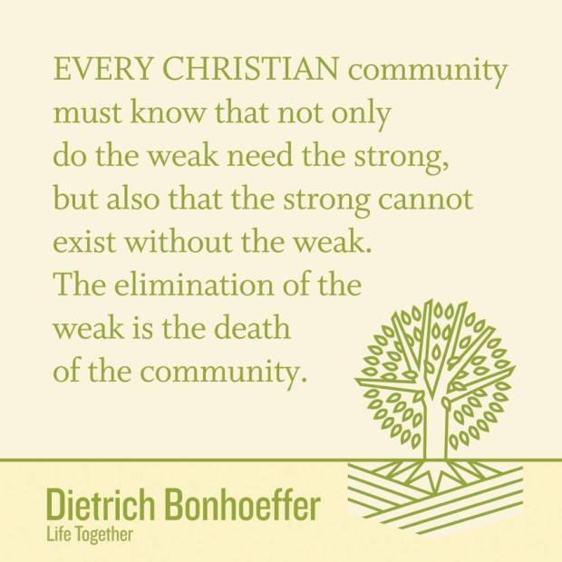 Bonhoeffer - Christian community